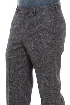 мъжки-елегантен-дълъг-панталон-вълнен-тъмно-кафяв-208-B